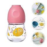 Biberón de Lactancia Resistente al Calor Biberón de Vidrio para bebés Biberones para bebés - Rosa