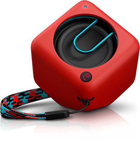Philips BT1300R/00 - Altavoz portátil con Bluetooth (2 Watt, Microfono), rojo