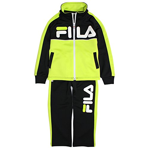 FILA(フィラ) ジャージ 上下セット 子供 キッズ 男の子 トレーニングウェア B3760 ブラック 130cm