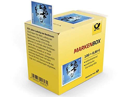 100x Briefmarken Markenbox a 0,80 € selbstklebend 100er-Rolle Deutsche Post 250. Geburtstag Ludwig van Beethoven