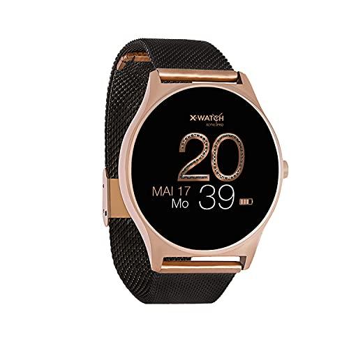 X-WATCH JOLI XW PRO-Smartwatch Damen iOS/iPhone-Fitnessuhr-Android mit Whatsapp Info 54030