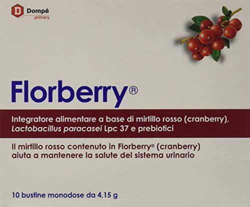 Dompe\' Farmaceutici 11630 Florberry Integratore Alimentare, 10 bustine