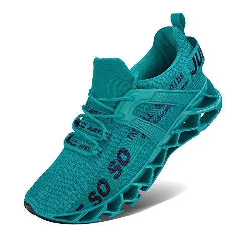 Wonesion Damen Laufschuhe Sportschuhe Straßenlaufschuhe Sneaker Damen Tennisschuhe Fitness Schuhe, 3 Blau, 37 EU