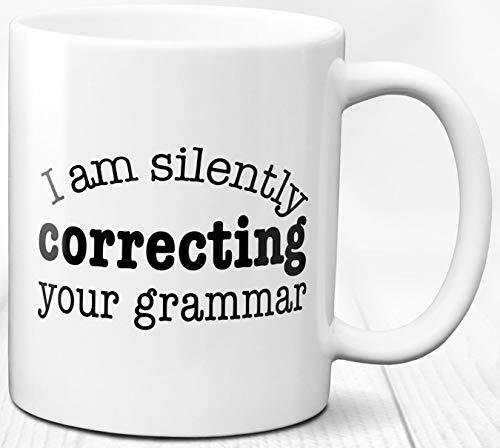 Grammatik Kaffeebecher Englisch Sprache Liebhaber Geschenk 330 ml Keramik Tasse Geschenk