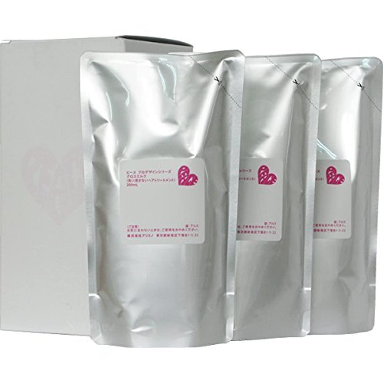 電気的飲料罪悪感ピース プロデザインシリーズ グロスミルク ホワイト リフィル 200ml×3