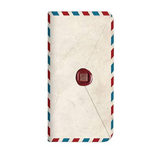 mitas iPhoneSE 第2世代 ケース 手帳型 ベルトなし 手紙 封筒 切手 D (249) NB-0231-D/iPhoneSE_2020