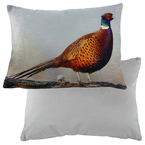 Evans Lichfield Pheasant Velvet Cushion Cover, Multi, 43 x 33cm