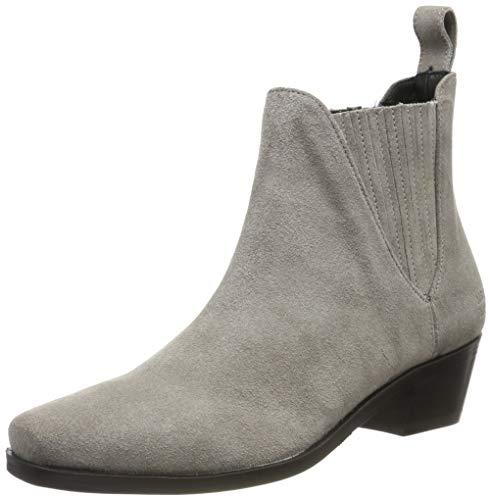 MELVIN & HAMILTON MH HAND MADE SHOES OF CLASS Damen Kylie 1 Chelsea Boots, Grau (Grey Suede Pattini-Marmotta-Elastic-Black-Lining Nappa-Black-Insole Leather-Hrsrblackc), 42 EU