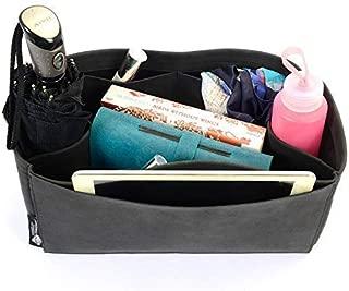 Regular Style Nubuck Leather Handbag Organizer for Celine Phantom Medium Bags in Dark Grey Color