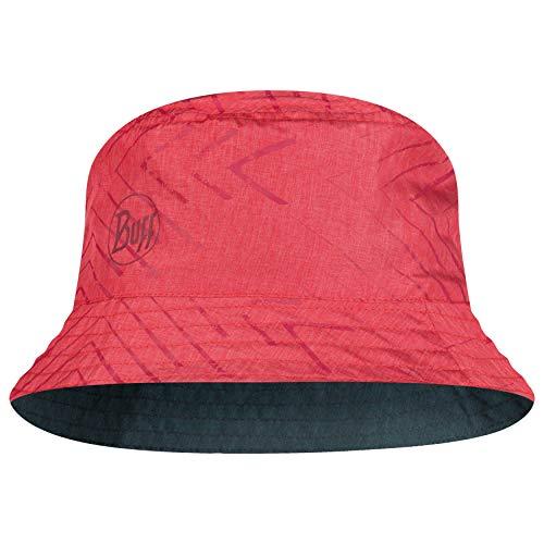 Buff Set Travel Bucket Hat + UP Schlauchtuch Damen & Herren   rot - schwarzer Sommerhut Mädchen   UV Wanderhut   Mütze wendbar   Collage   Red - Black   Gr. S - M - 117204.425.20.00