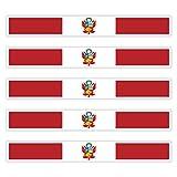 benobler 5 x Aufkleber Peru/Wappen f. KFZ Auto Motorrad Boot Flagge Fahne