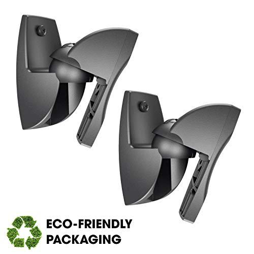 Vogel's VLB 500 B Lautsprecher Boxen Wandhalterung Set | schwenkbar und neigbar | vormontiert | max. 5 kg | ♲ Umweltfreundliche Verpackung | Schwarz (2 Halterungen)