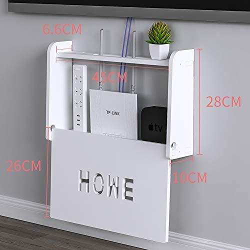 CLX Einfache Set-Top-Box Regalwand Router Wohnzimmer Rack Punch Trennwand Regal Schlafzimmer Lagerregal,28 * 45cm
