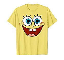 Best clothing styles for Spongebob Large Smiling Face T-Shirt