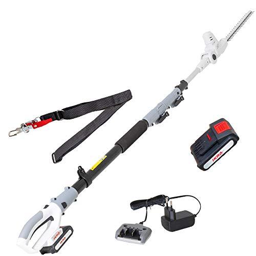 IKRA tijeras cortasetos telescópico a batería ICPH 2040, incl. batería de 20V, cargador y cinta de hombro