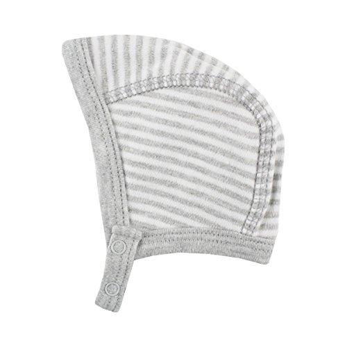 FIXONI LITTLE BEE Bonnet pour prématuré rayé Chapeau bébé, Gris
