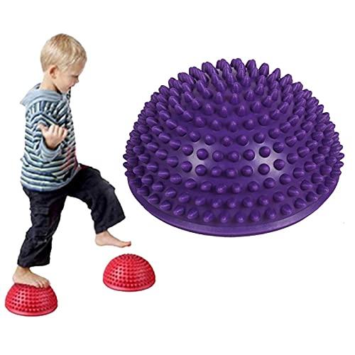 Lumanby Pelota de yoga semicírculo para yoga, para niños, semicírculo, pelota de masaje, pelota de yoga, ejercicio para el hogar y el gimnasio.