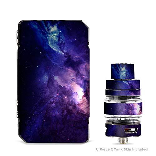 IT'S A SKIN Aufkleber aus Vinyl für VooPoo Drag 2 V2 und UForce T2 Tank Vape Aufkleber Sleeve Dark Solar Burst Galaxy Nebula
