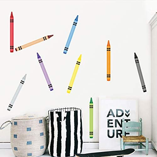 Crayon Decorations Wall Decals DIY Stickers for Kids Preschool Classroom Playroom 12 Long product image