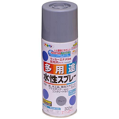 アサヒペン 水性多用途スプレー 300ML グレー