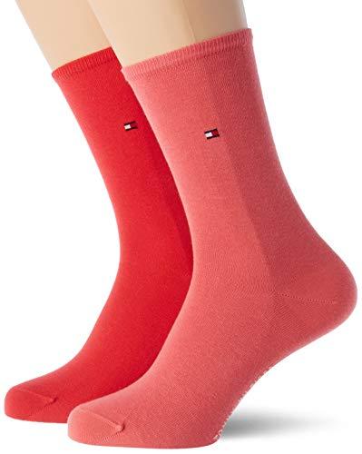 Tommy Hilfiger Frauen Casual Socken, Rose Red, 39/42 (2er Pack)