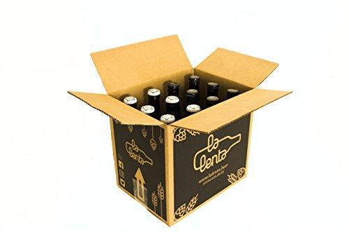 Cerveza artesanal La Lenta (12 botellas de 33 cl: 6 Optimista/Pesimista + 6 Golden Koeman)