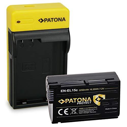 PATONA Protect Bateria EN-EL15C con Estrecho Cargador Compatible con Nikon Z5, Z6, Z6II, Z7, Z7II, D7500