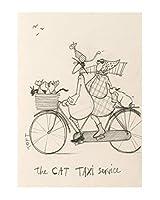 インチティンサイントフト猫タクシーサービスヴィンテージ鉄塗装金属板ノベルティ装飾クラブカフェバー
