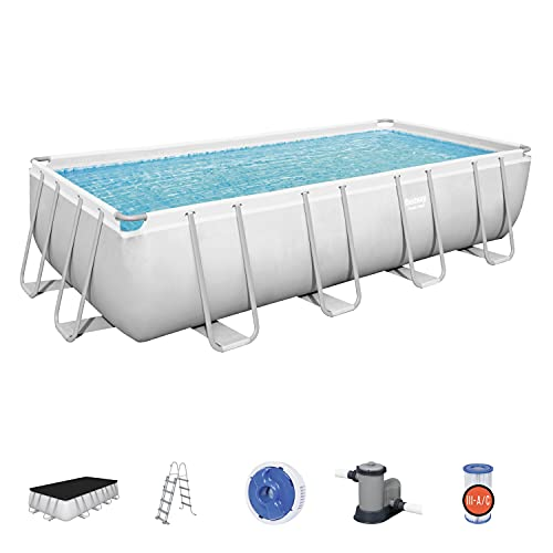 Bestway BW56465GB-21 Power Steel Above Ground Pool, with Pump and Ladder,...