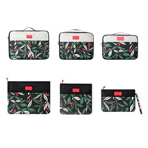 Bolsa de almacenamiento, Bolsa de viaje para ropa, 6 Unids/set Bolsa de embalaje Bolsa de ropa de viaje Organizador Conjunto Bolsa de almacenamiento de impresión Bolsa de embalaje Organizador(2)