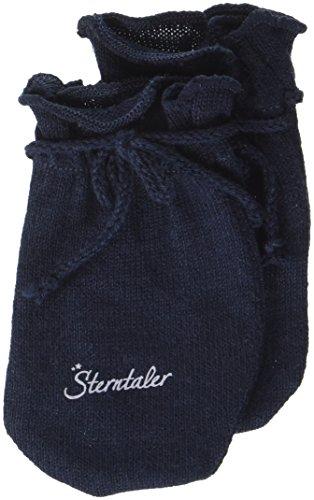 Sterntaler Moufles Anti-Griffures pour Bébé en Jersey, Âge: 0-6 Mois, Taille: 0, Bleu marine