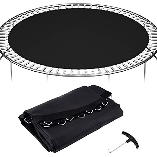 Nuiik-C22x Alfombra de Salto para reemplazo de trampolín de 14 '/ 6 pies ~ 16 pies Alfombrilla de Repuesto para Cama elástica con Marco Redondo (Talla : 16FT/108Hooks/7 Springs)