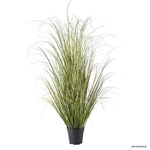 Klocke Kunstpflanzen Dekogras im Topf - Künstlich & Naturgetreu - Groß: 120cm - Hochwertiges Gras/Grasbüschel/Grasbusch/Grasbündel/Ziegras/Ufergras/Kunstgras getopft