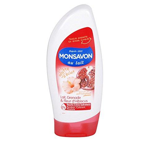 MONSAVON - Gel Douche - Lait grenade et fleur d'hibiscus - 250ml