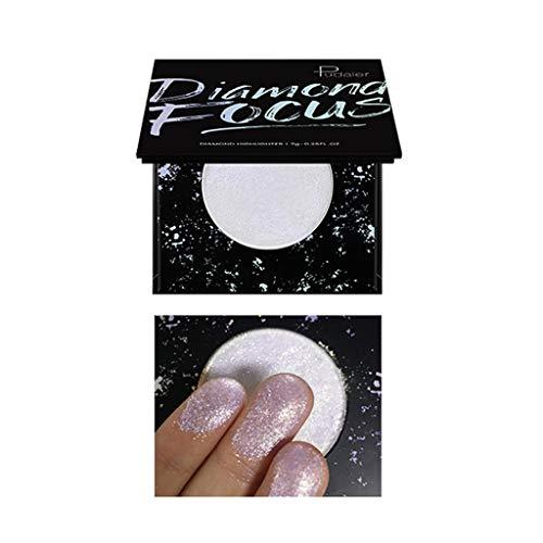 Highlight Makeup, general3 5 Color Professional Highlight Face Powder Highlighter Repair Capacity Powder Palette (E)