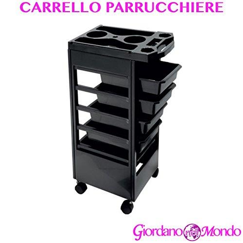 CARRELLO PER PARRUCCHIERI A 5 CASSETTI PORTA PHON PARRUCCHIERE