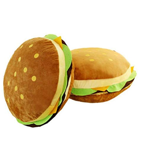 LAVALINK 1PC Cartoon Burger Pillow Plush Toy Simulation Sofa Burger Cushion Rag Furniture Decoration Children's Birthday Gift, Small