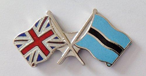 1000 drapeaux du Botswana et drapeau du Royaume-Uni