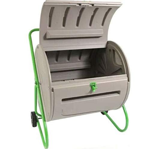 Review Ngernlaimaa Rugged Weather Resistant Outdoor Compost Bin Tumbler Garden Yard - 4.9 Cubic Ft