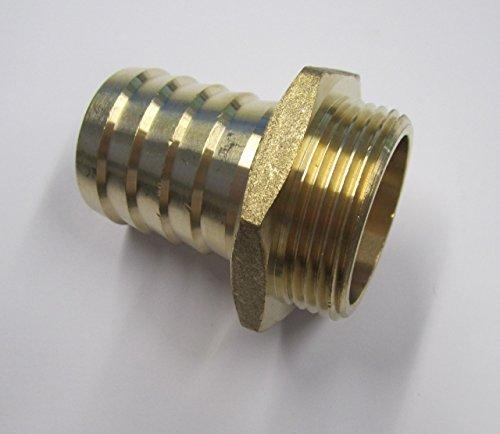 Schraubverbindung Sauger-Schlauchstutzen mit Außengewinde von 1 1/4 Zoll auf 1 1/4 Zoll (32mm)