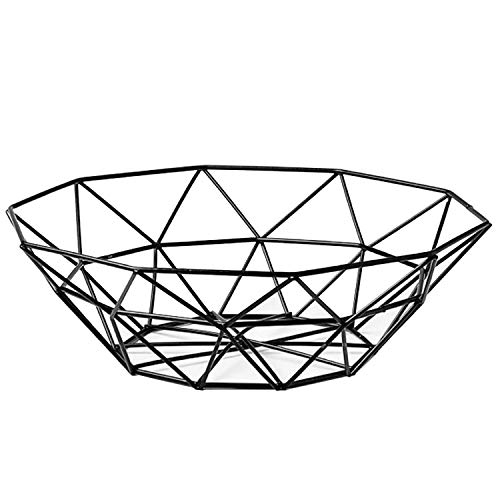 Fruit Stand Vegetables Serving Bowls Basket Holder for Kitchen Counter,Table Centerpiece Decorative,Countertop,Home Decor,Metal Iron Wire,Modern Stylish Rack for Banana,Fresh Veggie,Orange,Buffet,Eggs