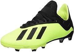 adidas X 18.3 FG, Zapatillas de Fútbol, Amarillo (Solar Yellow/Core Black/Solar Yellow 0), 35 EU