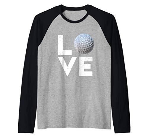 Golfer Golf Love Golf Ball Handicap Gift Raglan Baseball Tee