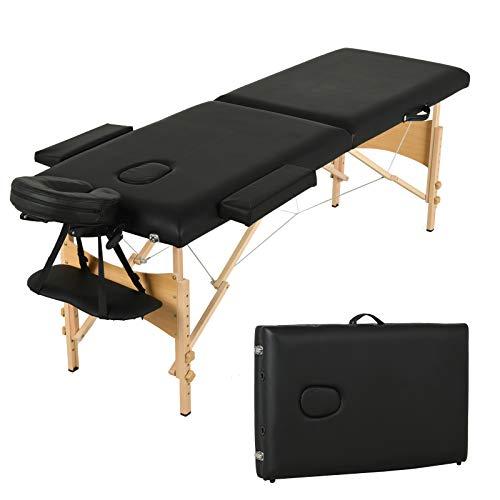 Uenjoy Folding Massage Table 84'' Professional Massage Bed 2 Fold Lash Bed...