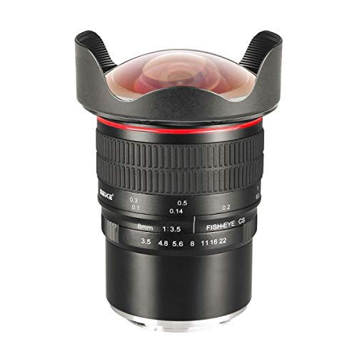 Meike MK 8mm f3.5 Lente Ojo de pez Ultra Gran Angular con Alta Velocidad, Enfoque cercano de Solo 10 cm, para Nikon Z
