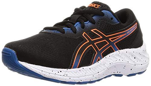 ASICS Gel-Excite 8 GS Road Running Shoe, Black/Marigold Orange, 33.5 EU