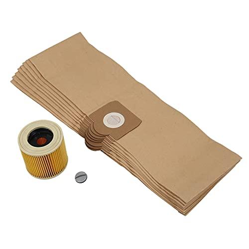 PUHE Recambios para aspiradora de repuesto bolsas de repuesto para Karcher WD3 WD 3.300 M WD 3.200 WD3.500 SE 4001 SE 4002 WD3 P 6.959-130 Bolsa de filtro de aspiradora accesorios