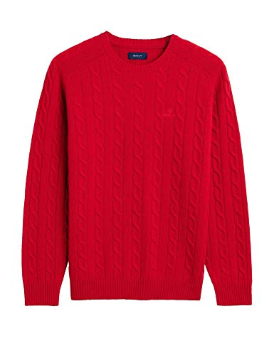 GANT Men's Cable Lambswool Sweater Slim Fit
