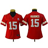 Patrick Mahomes # 15 Kansas City Chiefs Rugby Jersey, Red Short Sleeve Sport Top T-Shirt, American Football Sportswear XS-XXL-XL