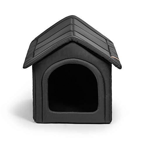 R Rexproduct Home Premium Hundehütte Hundehaus Tierhaus Flattbar Wasserfest Kratzfest Grau XXL (55x60x60 cm)